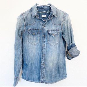 Madewell | Classic Denim Western Snap Button Shirt